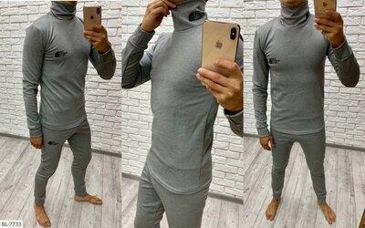 Мужской спортивный термо костюм The North Face BL-7733 термокопрессионная на флисе