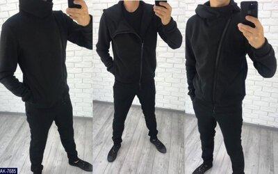 Мужской спортивный костюм косуха AK-7685 турецкая трех нитка - с начесом