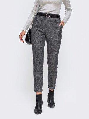 Теплые брюки с подворотами. 2 цвета