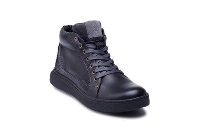 Мужские зимние кожаные ботинки leather new beat мужские кожаные кеды