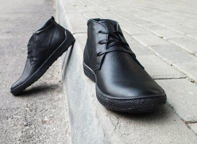 Мужские демисезонные ботинки челси сапоги осенние весенние туфли без шнурков стильные модные качест