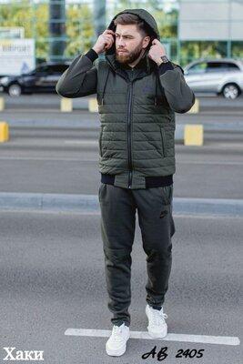 Замеры. теплый мужской зимний спортивный костюм тройка