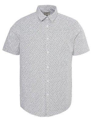Мужская рубашка george white spot print short sleeve shirt