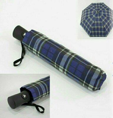 Лёгкий зонт полуавтомат в клетку
