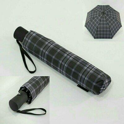 Лёгкий зонт полуавтомат в клетку. Венгрия