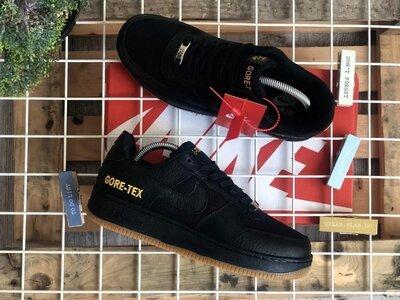 Топ качество. Мужские Кроссовки Nike Air Force Gore-tex Black черные 9195