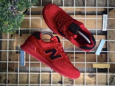 Топ качество. Мужские Кроссовки New Balance 574 Red Black красно-черные 9196