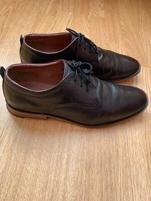 Продано: Фирменные кожаные мужские туфли Base London,классические черные туфли