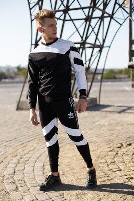 Костюм Adidas Рефлектив Черно-Белый