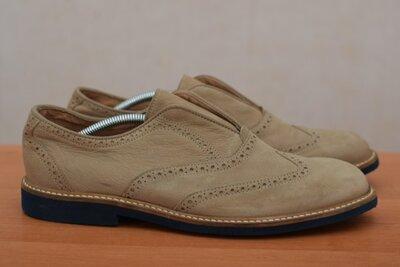 Коричневые кожаные туфли, броги, мокасины River Island, 44 размер. Оригинал