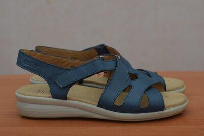 Синие кожаные босоножки, сандалии Hotter, 40 размер. Оригинал