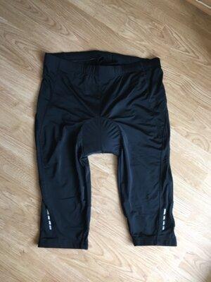 Чёрные велосипедки, велокапри Crivit Sports, XL, 56-58 размер