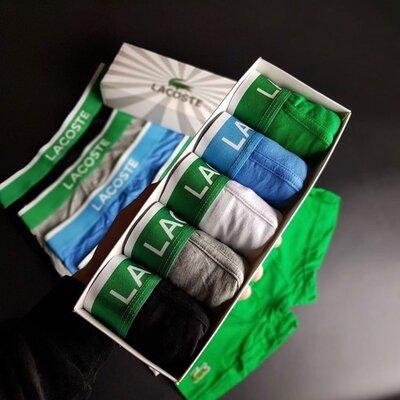 Продано: Набор мужской трусов Lacoste 5 шт в коробке маска в подарок