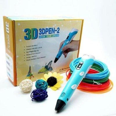 3D ручка 3D PEN-2 с Led дисплеем пластик Рla для рисования и творчества