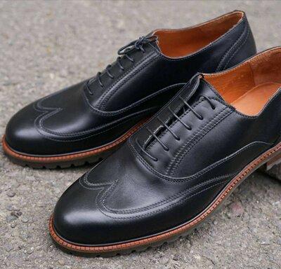 Кожаные стильные туфли высокие броги оксфорды стильные топ продаж новинка отменное качество