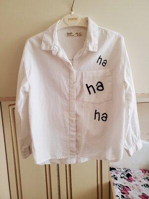 Стильная рубашка Zara р.128