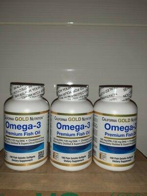 Продано: California Gold Nutrition®Рыбий жир премиум-класса омега-3