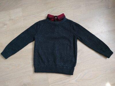Джемпер,кофта,свитер в школу хлопок и шерсть