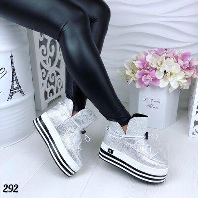 Женские угги ботинки на платформе