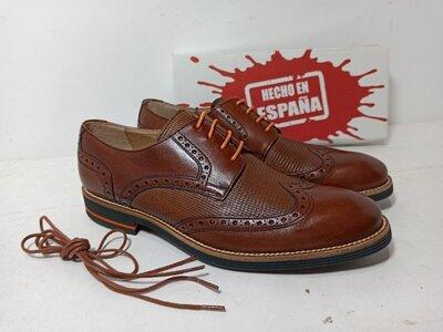 Туфли мужские из натуральной кожи, цвет коричневый, производитель Испания 41р