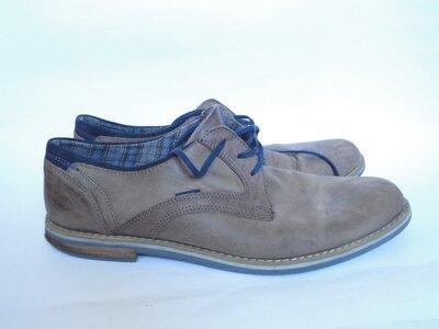 Туфли на широкую ножку из натуральной кожи р.41