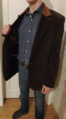 Мужской дизайнерский пиджак M-L