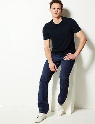 однотонные базовые джинсы Marks &s & Spencer, размер W 30 / L29 наш 44-46