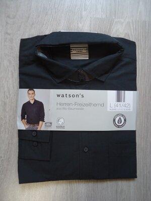 Мужская рубашка с длинным рукавом Watsons Германия, р. L 41/42
