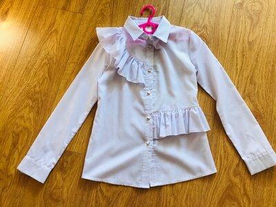 Школьная белая блузка для девочки рост 146