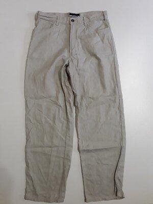 Фирменные льняные брюки штаны 32р.