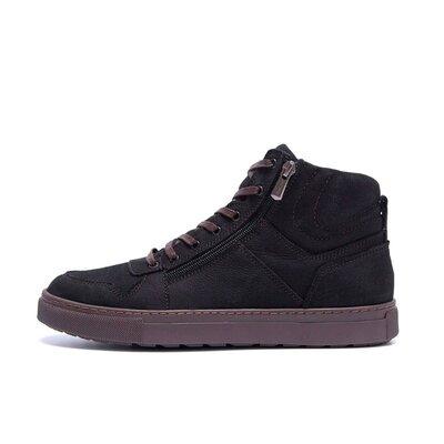 Мужские зимние кожаные ботинки ZG Black Night New