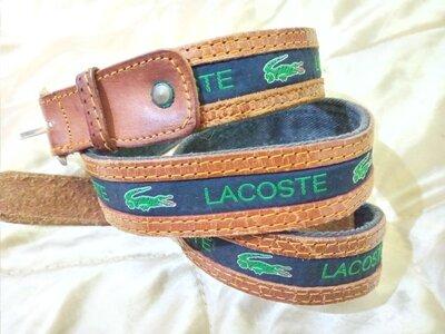 ремень Lacoste оригинал кожа 99 см пояс Gucci Burberry