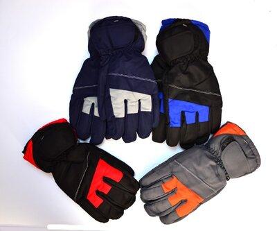 Мужские лыжные перчатки на флисовой подкладке