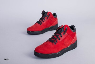 Код 9400-2 Мужские ботинки на меху Сезон зима Размеры 40 - 45 Цвет красный Материал натуральный