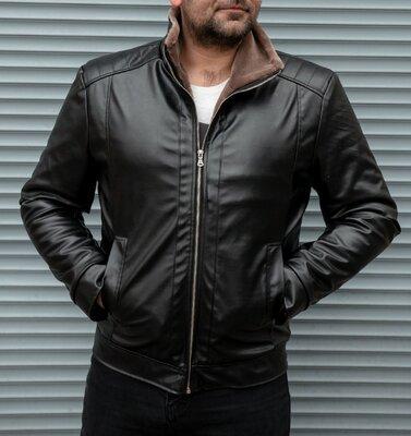 Продано: Зимняя кожаная куртка на меху