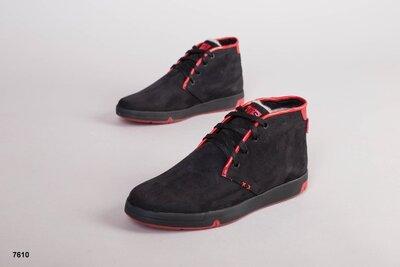 Код 7610 з Мужские зимние ботинки Размеры 40-45 р Сезон зима Материал натуральный нубук Внутри