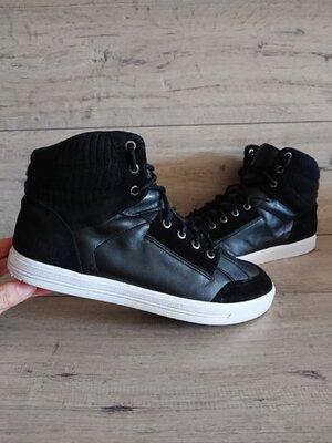 Ботинки кеды хай-топы деми Firetrap timberland 42р 27 см кожа замш