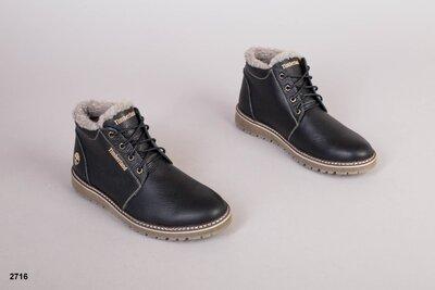 Код 2716 з Мужские зимние ботинки Размеры 40-45 р Сезон зима Материал натуральная кожа Внутри п