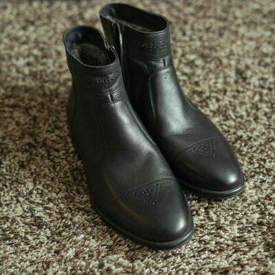 Продано: Чоловічі шкіряні зимові черевики