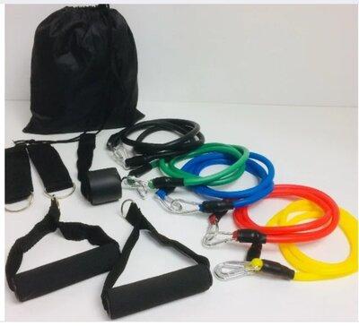 Набор трубчатых эспандеров для фитнеса u-powex 5 штук в мешочке