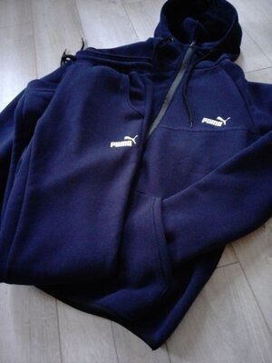 Мужской теплый спортивный костюм Puma Пума Ро-1292 Ткань турецкая трех нитка с начесом