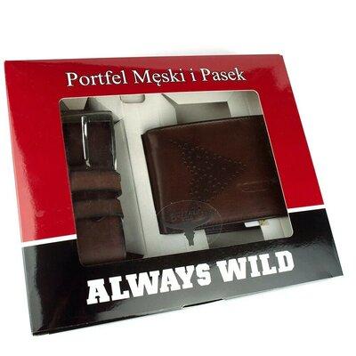 Подарочный набор Always Wild PSB-N7-02-GG портмоне ремень