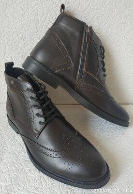 TODS мужские ботинки мужские броги оксфорд на шнуровке натуральная кожа полуботинки демисезон корич
