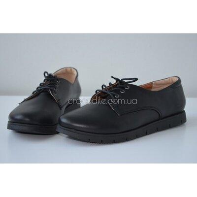 Классические женские кожаные туфли на шнуровке 122014 р.36,37,38,39,40,41 Осень-Весна