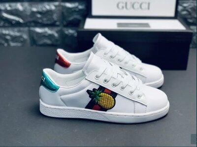 Кеды женские Gucci туфли кроссовки Гуччи Фирменная, Оригинальная упаковка Кеди кросівки Гучі