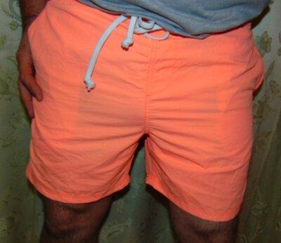 Стильние фирменние пляжние шорти оранж бренд Dbah .м-л .