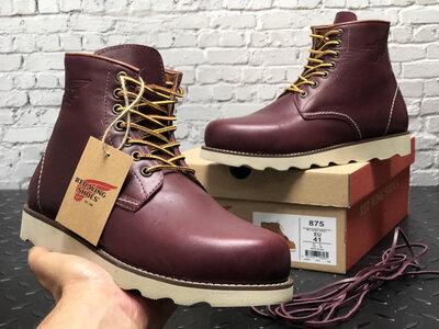 Мужские зимние ботинки Red Wing. Натуральная кожа. Красно-Коричневый