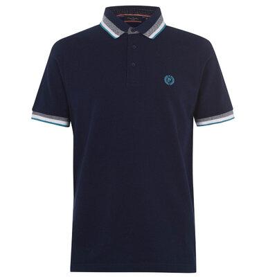 Рубашка поло футболка Pierre Cardin Polo Pique Navy Оригинал Синий ворот кант
