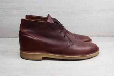 Кожаные мужские ботинки / дезерты Clarks originals, размер 44 desert boots