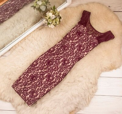 Шикарное кружевное миди платье от NEXT рр 8 наш 42